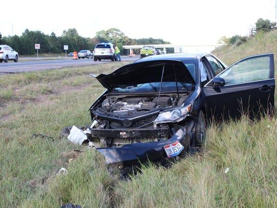 The vehicle's driver, Paul Cory of Akron, said he fell