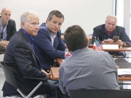 U.S. Sen. Ted Cruz visits Plastic Molding Technologies in El Paso.