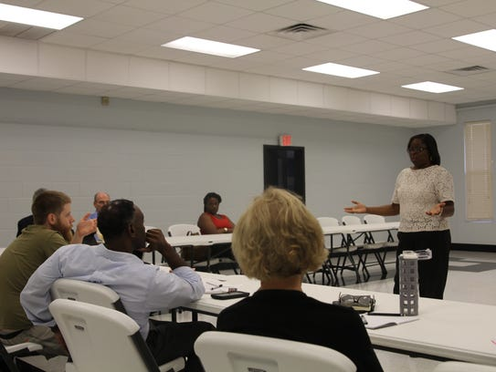 Dianne Williams-Cox speaks to the newly formed Southside