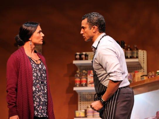 "Ananda Bena-Weber and J Paul Nicholas in ""The Butcher,"""