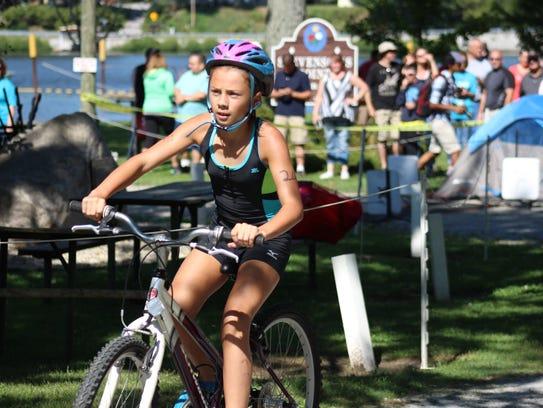 Delphi Triathlon girls overall winner Evann Royal