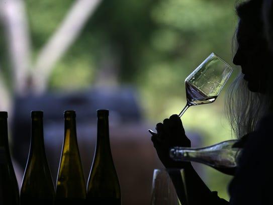 Tastings at Forge Cellars overlooks Seneca Lake and