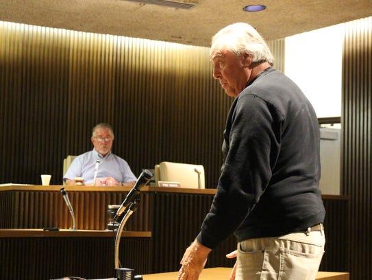 Dan Gorman of Parma talks with Mansfield City Council