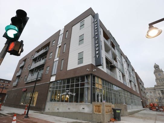 The downtown HyVee grocery store complex received tax