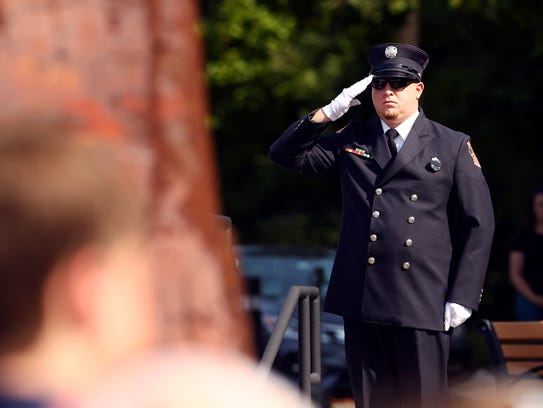 During the Borough of Morris Plains 9/11 remembrance