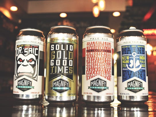 Special release cans from Magnify Brewing Company.