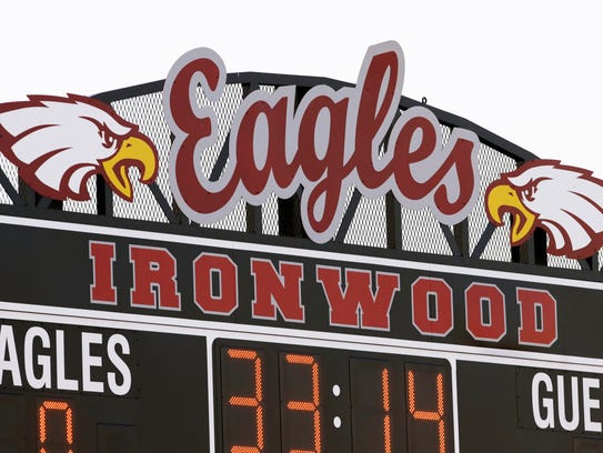 Ironwood High scoreboard at Ironwood High School on