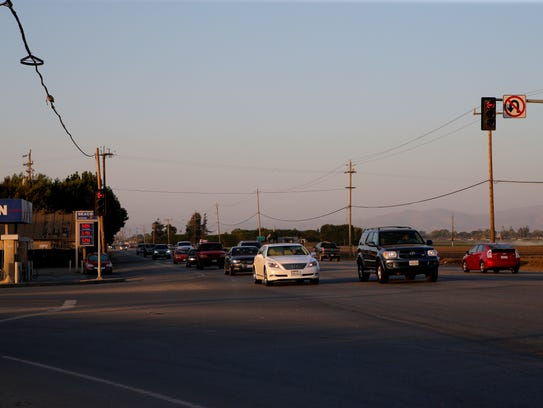 The corner of Hitchcock Road and Highway 68 just south