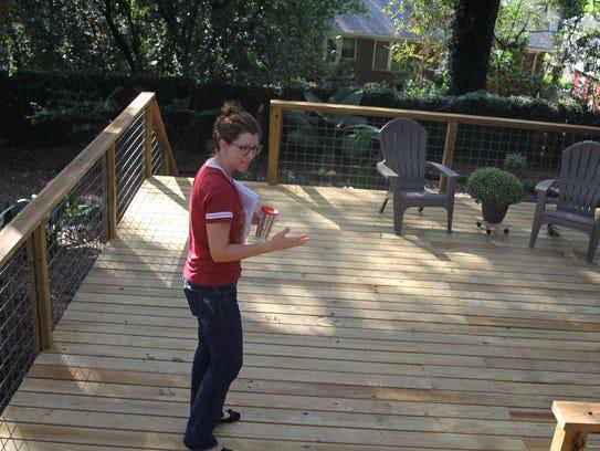 Leon County Commissioner Kristin Dozier shows the deck