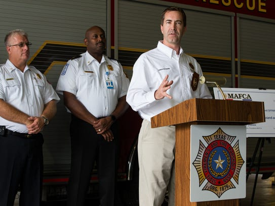 Chris Barron executive director of the State Firefighters