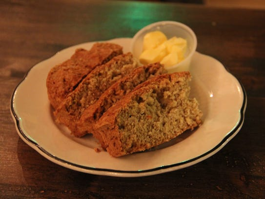 Irish soda bread starts off every meal, served with