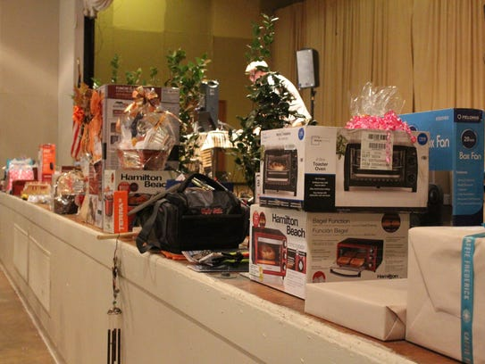 Some of the items to be presented as door prizes during