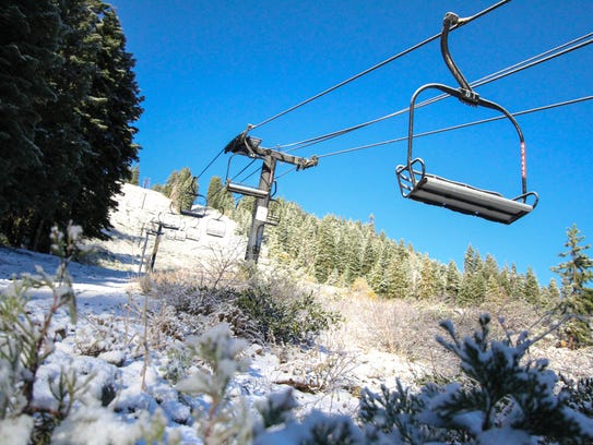 Snow as seen at Homewood Mountain Resort on Oct. 20,