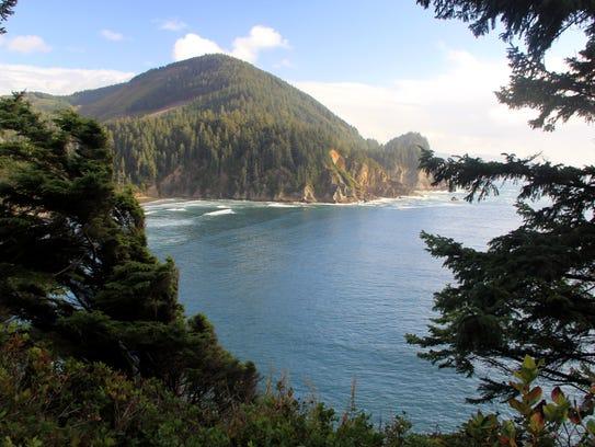 Neahkahnie Mountain, above the Oregon Coast, as seen
