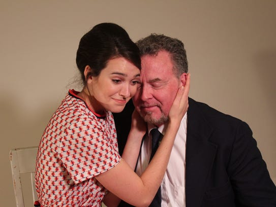 Emily Guillemette, left, as Susy Hendrix in The Masquers'