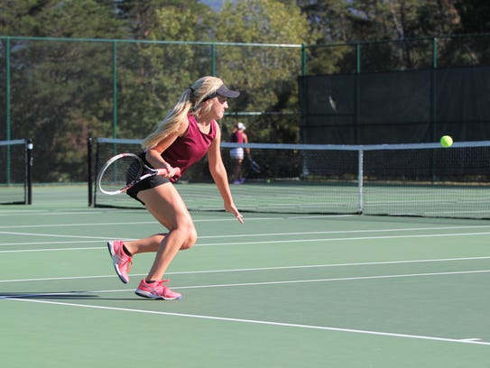 Jaiden Tweed closes in on a ball during a match at