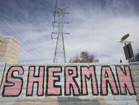 Temperatures in the Sherman Parkway area of south Phoenix