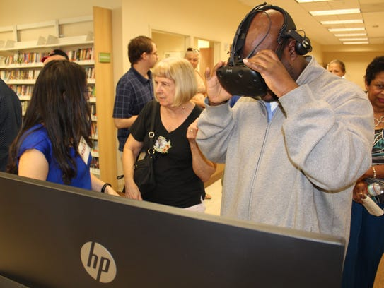 The new Paula A. Lewis Library has high-tech gadgets