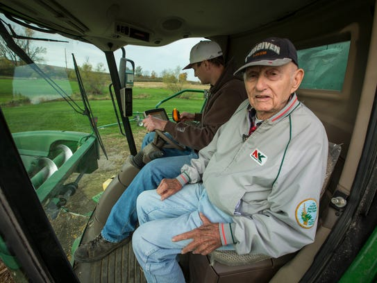 Norman Johnson, 93, is able to ride in the cab of a