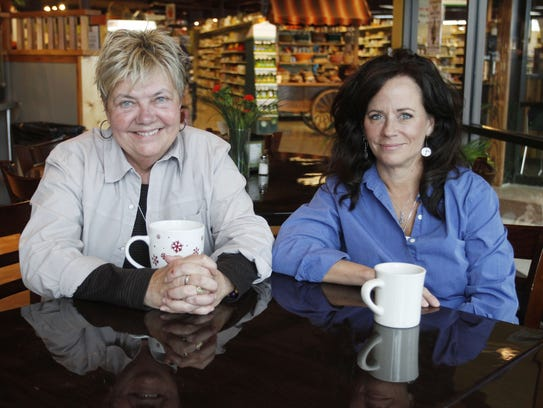 MaMa Jean's Natural Market owners Diana Hicks, left,