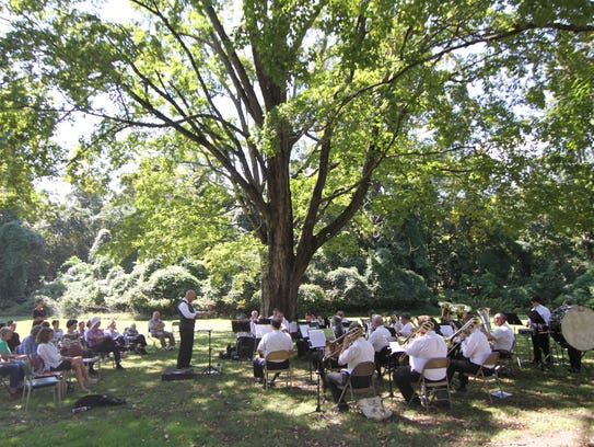 The Smoky Mountain Brass Band played on the grounds