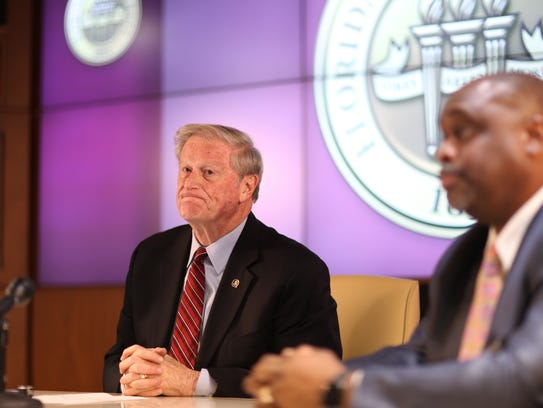 FSU President John Thrasher announces a suspension