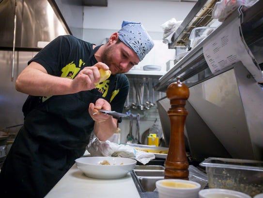 Chef Jason Attig prepares Winter Squash Tortellini