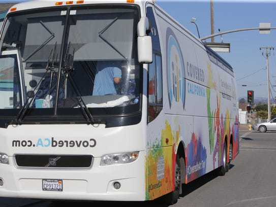 Covered California's bus makes a stop in Salinas on