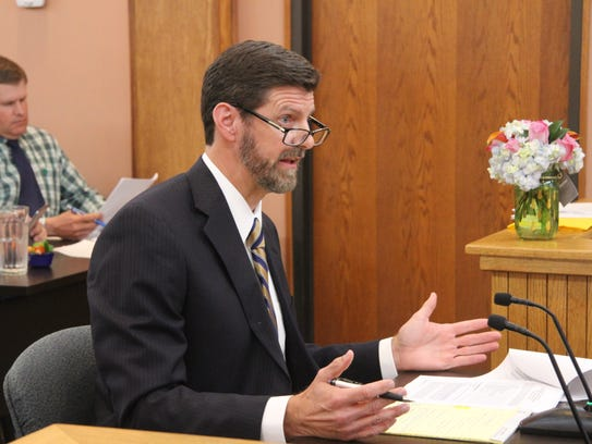 Attorney William Berry addresses Eddy County Commissioners