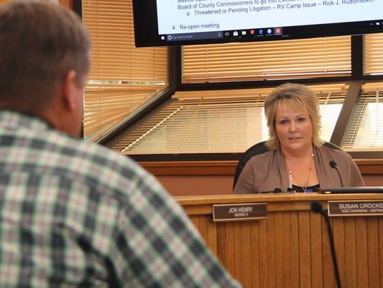 Eddy County Commissioner Vice Chair Susan Crockett