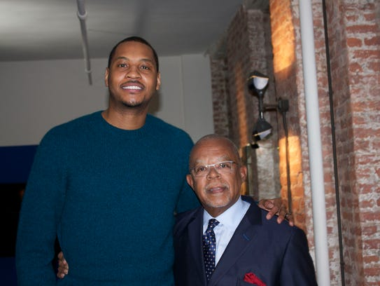 Carmelo Anthony (left) and Henry Louis Gates, Jr. on
