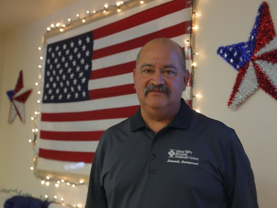 Carlos Sanchez, a United States Army veteran who works
