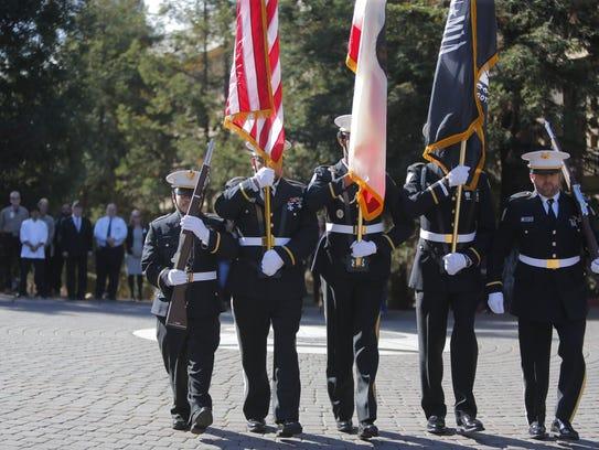 The American Legion District 28 Color Guard.