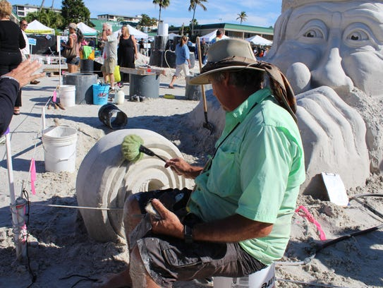 Master sand sculptors use a surprising array of tools