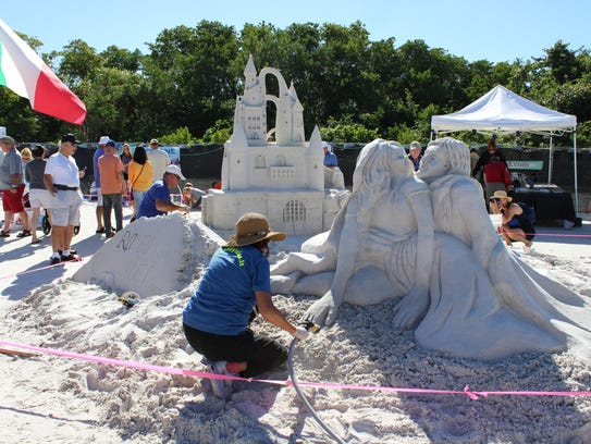 Master sand sculptors will create intricate artworks