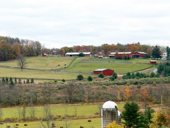 Allerage Farm in Sayre, Pennsylvania.