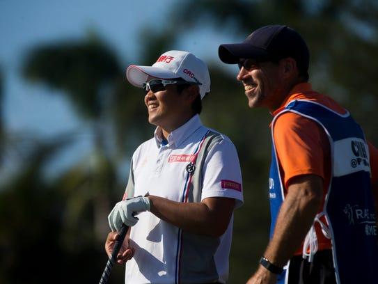 LPGA tour pro Peiyun Chien breaks a smile while speaking