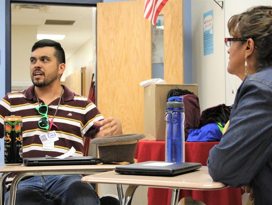 Ramon Quiraga talks about students decorating their