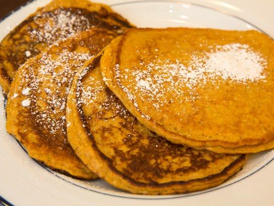 Sweet potato pancakes made by Big Sister Melissa Wilbur