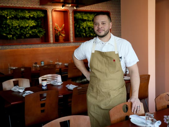 Chef-owner Dane Baldwin in the Diplomat's dining room;
