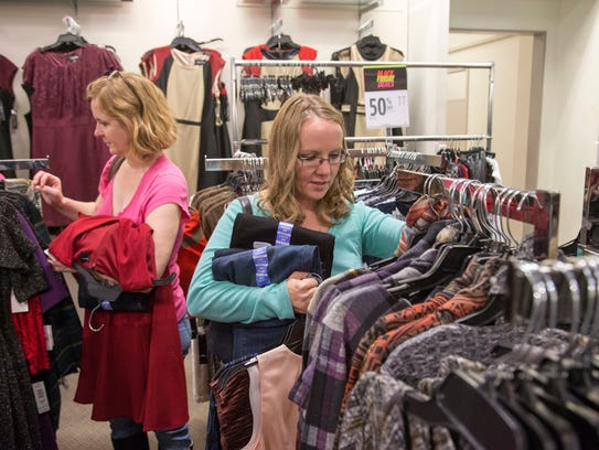 Keri Crafton shops with her family for good deals on