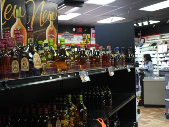 Inside the Lakeshore Liquor store on Lakeshore Drive.