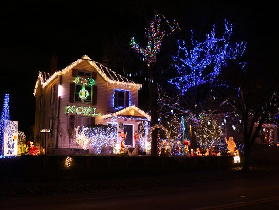 This house at 7211 Fairpark Ave. in Carthage features a soundtrack synced to moving lights that you can listen to on the radio while you watch. There are 100,000 lights.