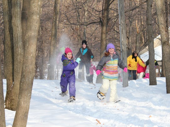 Get the kids outside this winter for showshoeing on