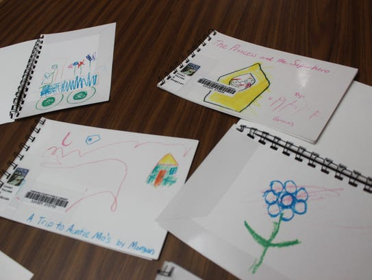 Books created by children in a class provide by the