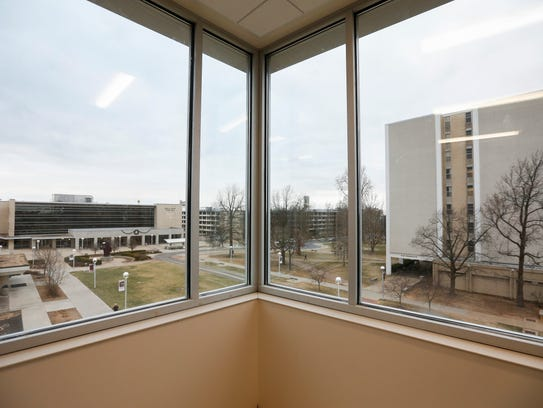 A view from a third floor office at the Taylor Health