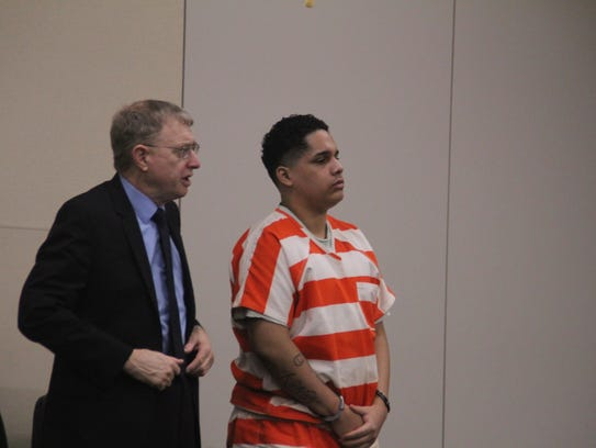 Gonzalo Curiel, 19, appears in court Wednesday on charges