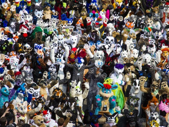 Fur fans at Eurofurence, an annual large scale  furry