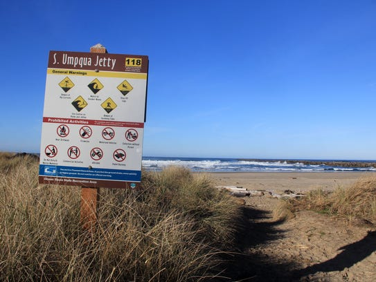 South Umpqua Jetty day use area.