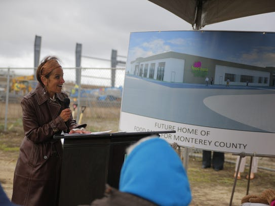 Melissa Kendrick speaking at the groundbreaking for